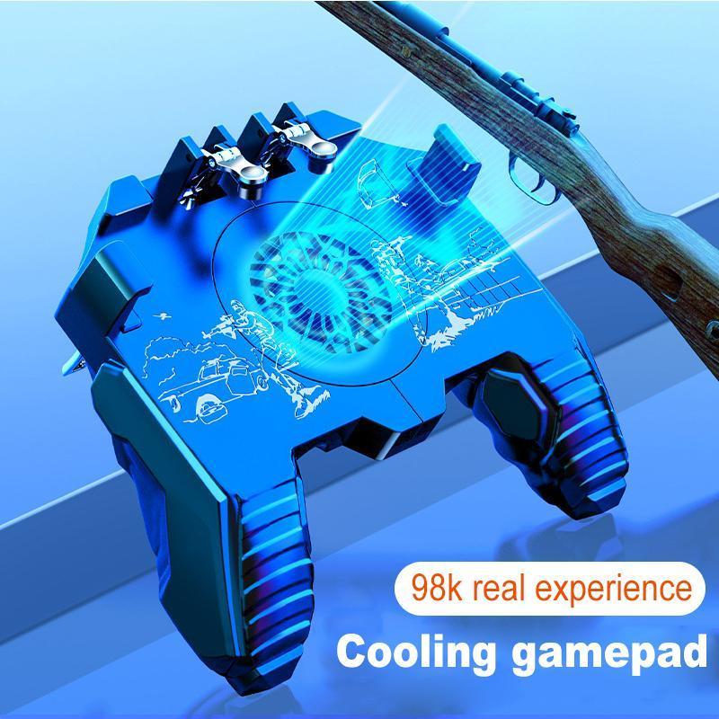 Novo controlador de jogos de celular para Pubg Gamepad para 4.7-6.5 polegadas Controlador de jogo de telefone inteligente com ventilador de refrigeração
