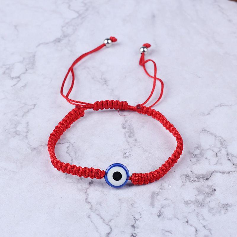 15 штук много 2021 6 стилей красный ручной работы браслет Lucky String нить браслеты голубого злого глаз очарование ювелирных изделий Фатима дружба