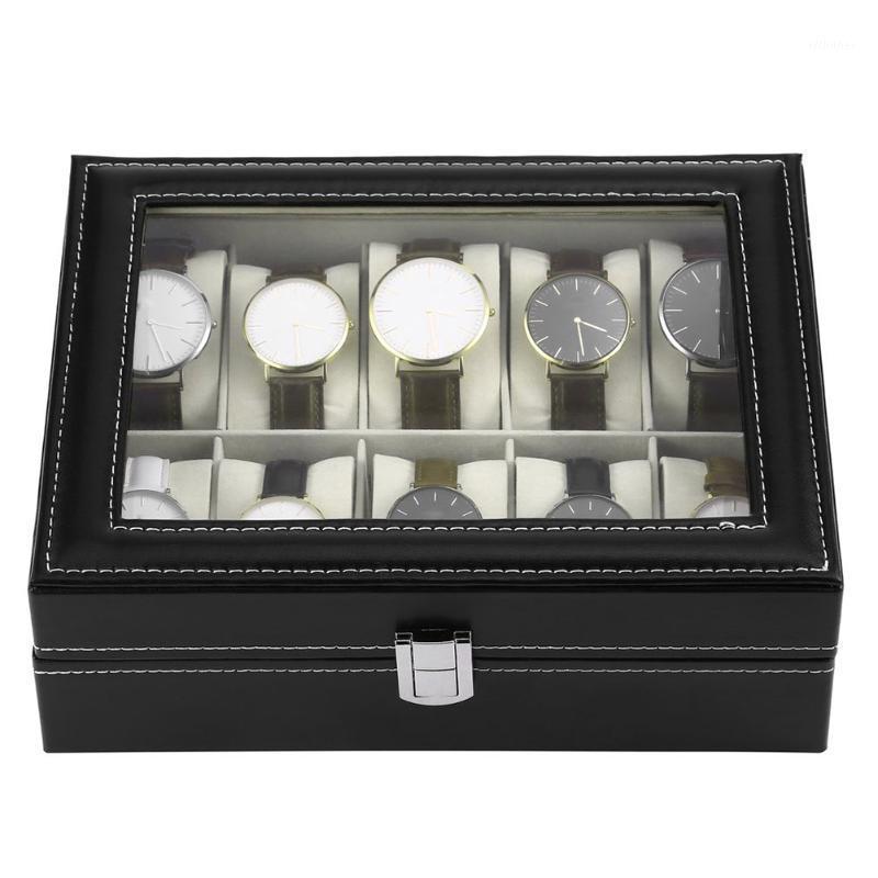 10/6 grilles nuageuses porte-bracelet porte-montre PU Watch Boîte Montres Afficher rectangle Bijoux Boîtes de rangement de haute qualité bijoux1