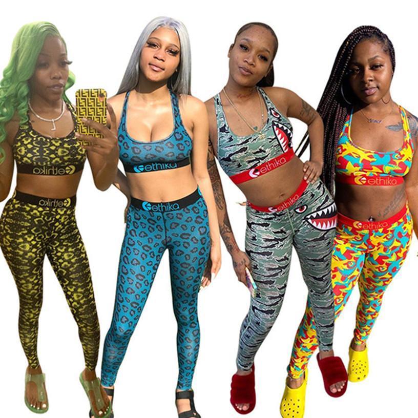 Женщины дизайнер Sexy Street 2-х частей набор Tain Top S-XL жилет брюки совок выреза без рукавов летняя одежда урожая топ промежуточная костюма леггинсы