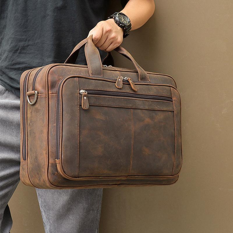 Maheu Superious Brand Cauretity Brand для мужчин Урожай дизайнер портативный сумка кожаная кожаная лошадь