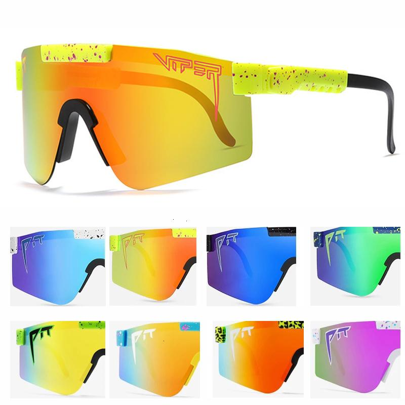 The 1993 Polarized Double Wide Pit Viper Sunglasses sports outdoor ski glasses 70% OFF On sale YPMQ