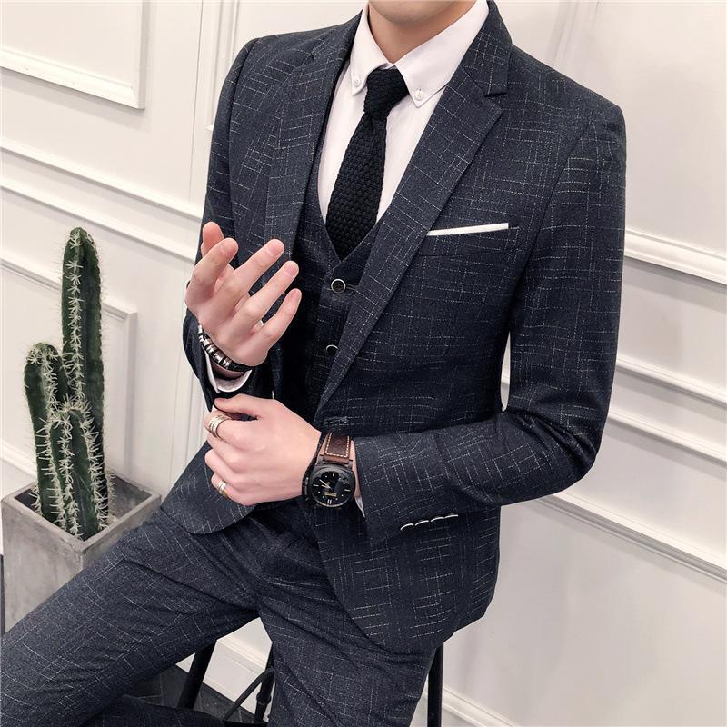 2020 costumes pour hommes robes de mariée hommes robes slim costumes professionnels coréens