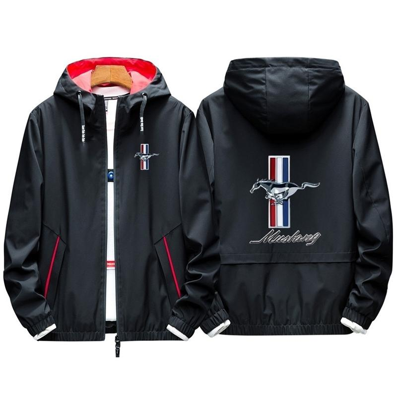 Sweats à capuche à imprimer personnalisé mustang pour hommes Pullover Sweats à capuche pour hommes Veste Harajuku Livraison directe de grande taille Streetwear 201114