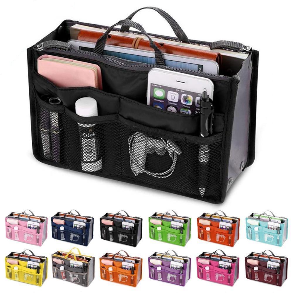 أدوات الزينة المكياج منظمي ماكياج حقيبة الهاتف حالة tional حقيبة مزدوجة سستة أكياس تخزين متعدد الطبقات حقيبة السفر الأكياج المنزلية أكياس تخزين YL1341