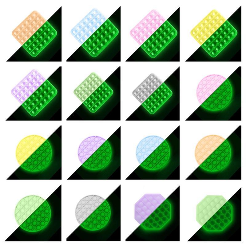 Свечение в темновом толчке Фортета игрушка сенсорные пузырьки сжимания игрушки для тревоги аутизм специальные нужды подчеркивает таблица стола игры светящийся G10604