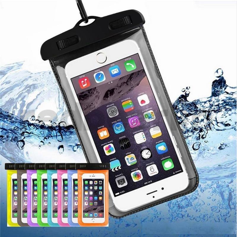 Estuche seco a prueba de agua PVC al aire libre PLÁSTICO PROTECCIÓN DE TELÉFONO CELULAR UNIVERSAL Caja del teléfono celular para el teléfono inteligente 4.7 pulgadas / 5.5 pulgadas