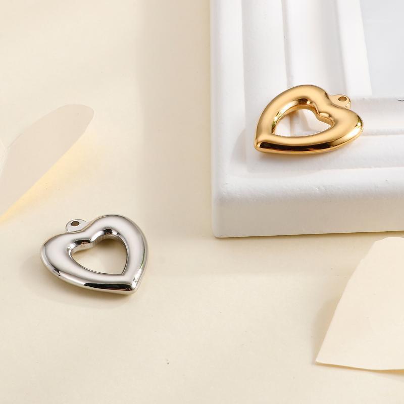 Encantos S dourados coração bonito 30 * 26mm para diy moda colar pulseira jóias fazendo acessórios1