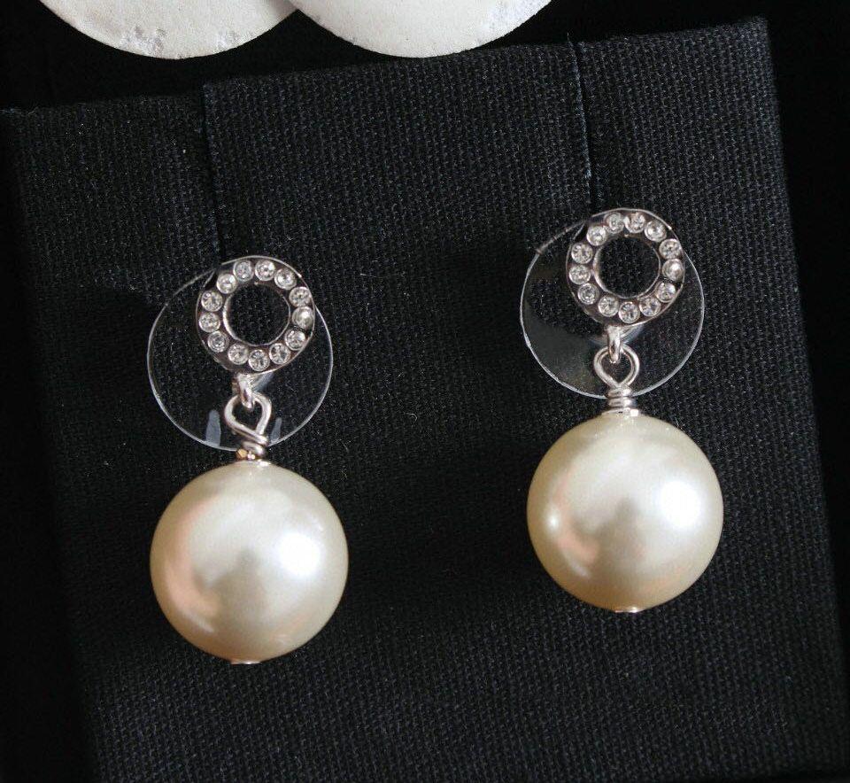 Avere timbro moda mini lettera diamante orecchini perla aretes orecchini per donne partito amanti del regalo gioielli regalo con scatola