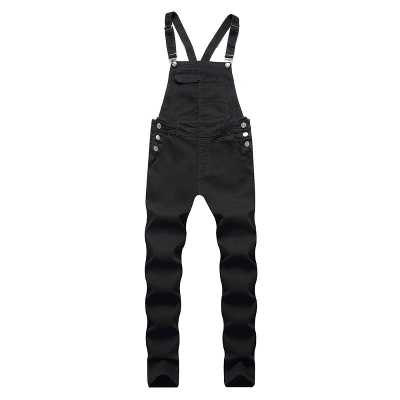 Men's Jeans Classic Big Pocket Slim Denim Bib Overalls Casual Jumpsuits For Youth Coveralls Working Clothing