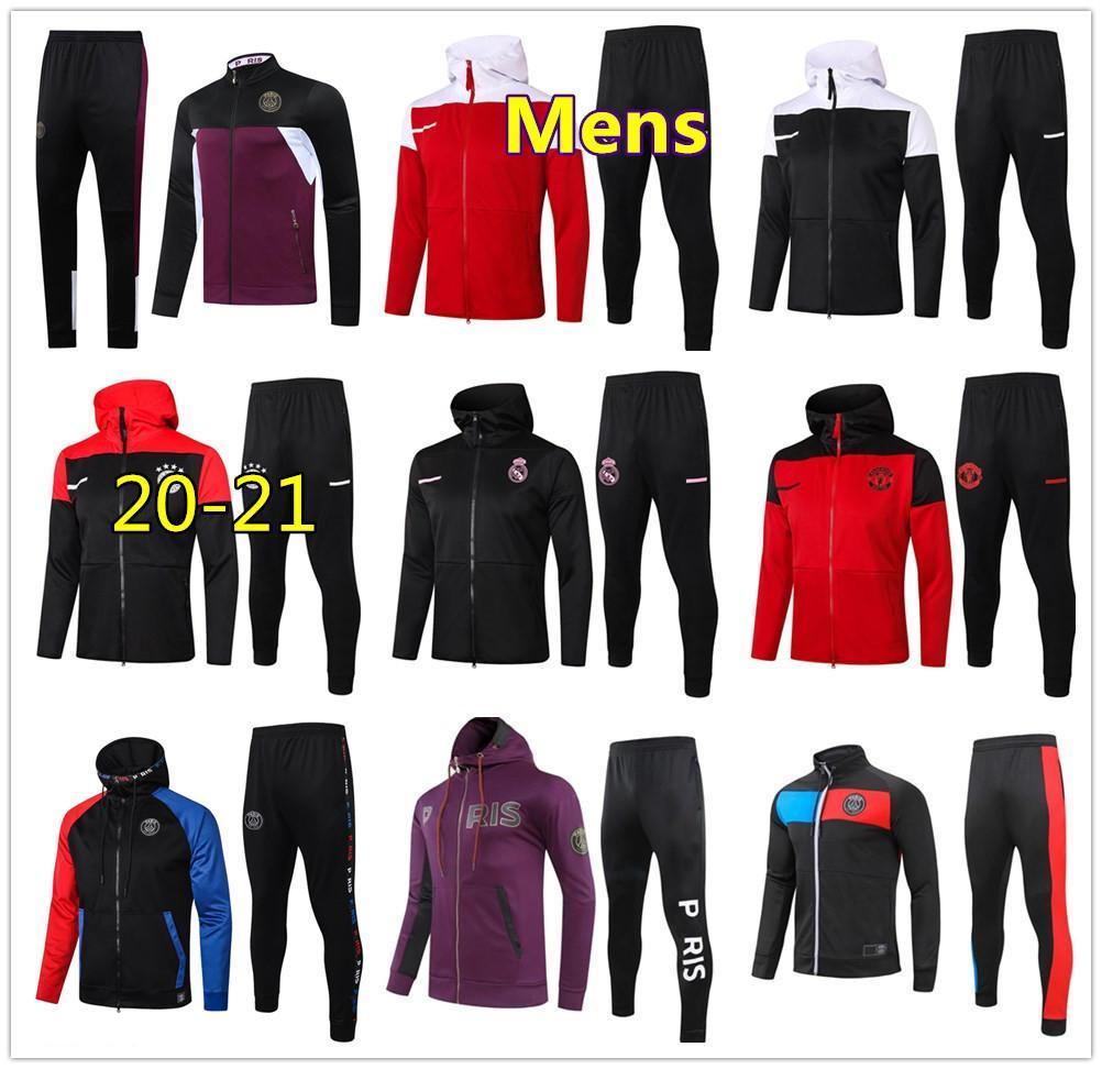 20 21 Mens football tracksuit zip jacket hoodie 2020 2021 men soccer tracksuit training survetement foot chandal jogging