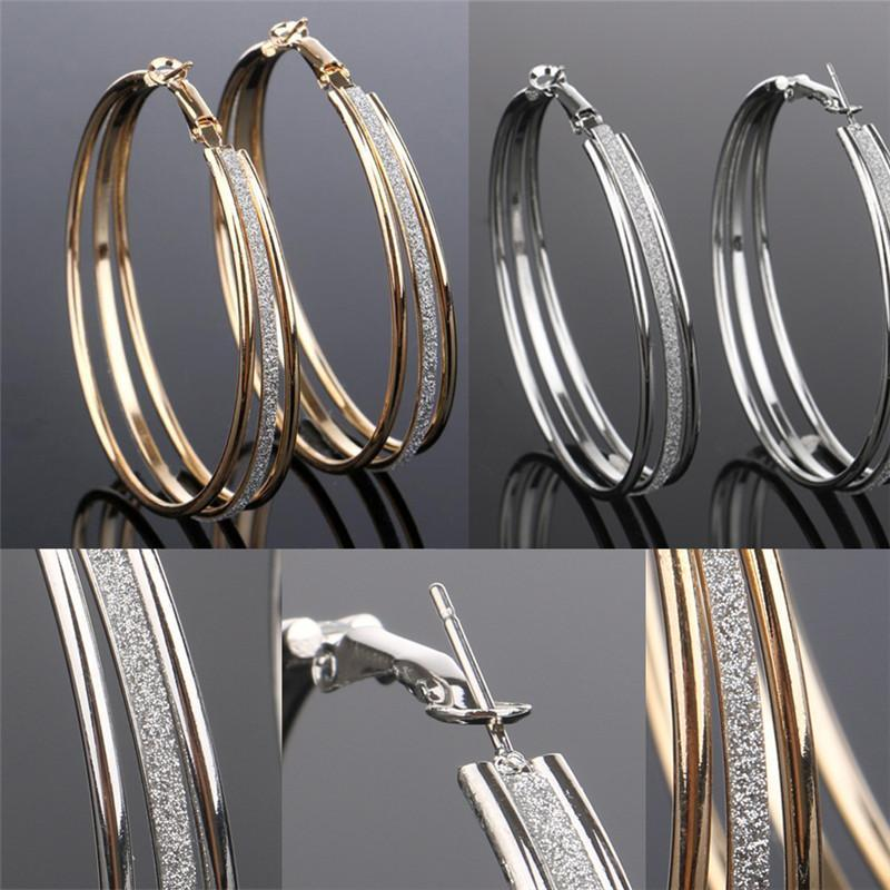 Mode-Art-Ohrring Brinco-Frauen-Frauen-Dame Kristall Strass-Reifen Runde große Ohrringe Ohrstecker neues EAR-0065