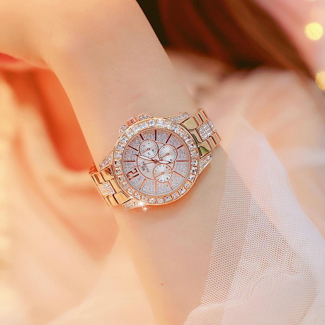 Orologio da donna con pacchetto originale BS Drill Square Drill Full Diamond New Watch Hot List List collegati di alta qualità Forma femminile con orologiaio