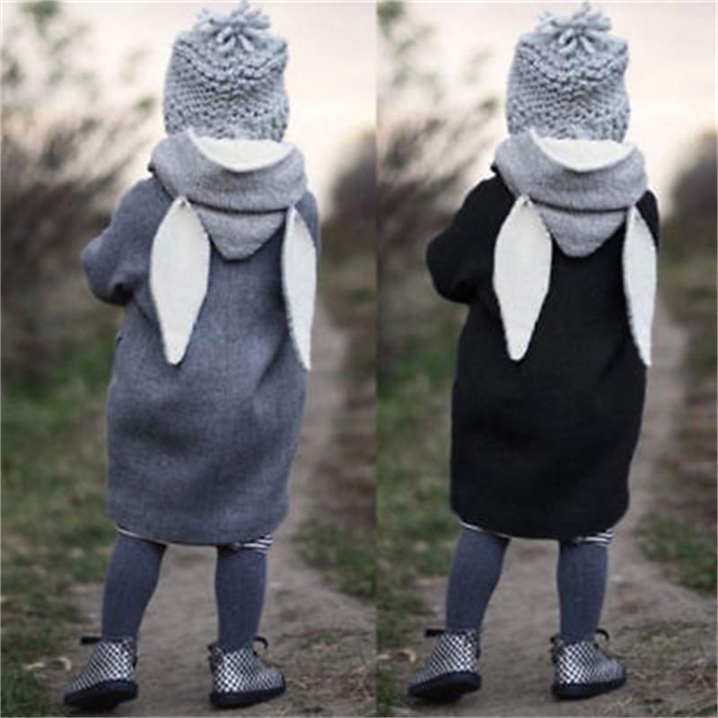 Enfants Baby Girls Hiver Hiver Sweats à Sweats à capuche de coton Outwear Bouton Bouton Janteau 1-5T Veste pour filles 201216