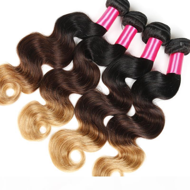 Heißer Verkauf 7a Ombre Brazilianische Haar Brasilianische Körperwelle 1b 4 30 Ombre Human Hair Extensions 3 Bündel 3 Tonfarbe