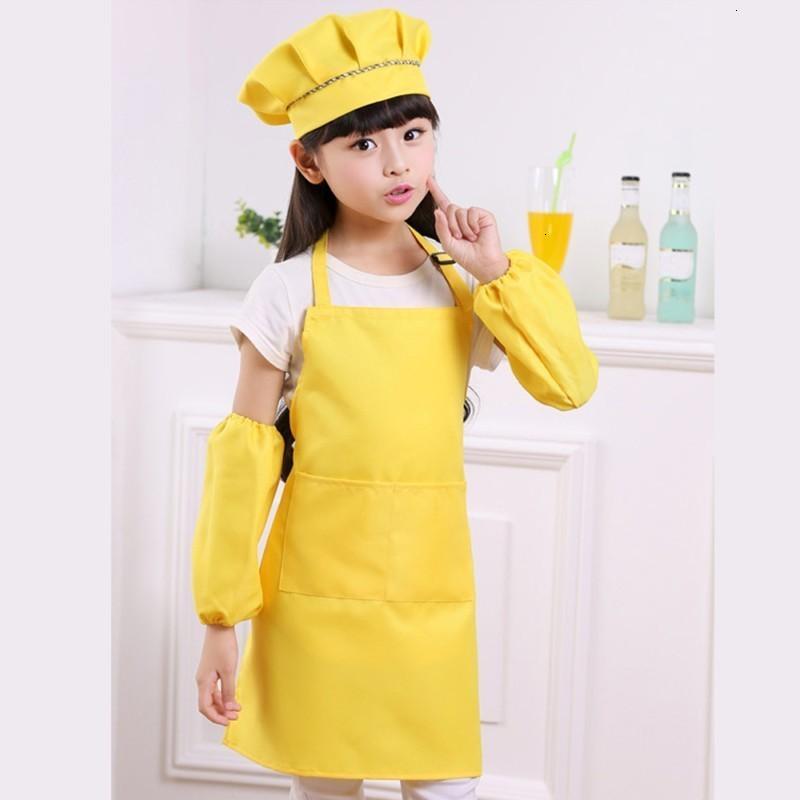 Выпечки рукава набор кухонной шляпы над детскими ковриками и рисовать детский сад, готовить фартук для детей студентов