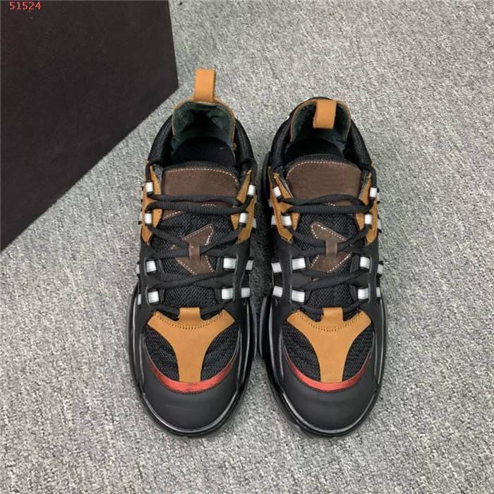 Мужская мода обувь коровьей кресла чистая ткань контрастность цветные повседневные туфли легкие износостойкие спортивные туфли, с коробкой размером 38-45