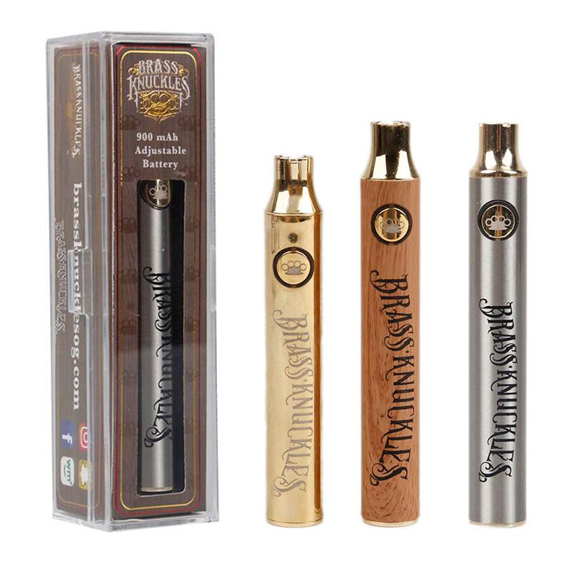 Brass Knuckles Battery 650mAh 900mAh Variable Voltage Preheat E-Cigarette Battery Pen For 510 Thraed Thick Oil Cartridge Vape Max