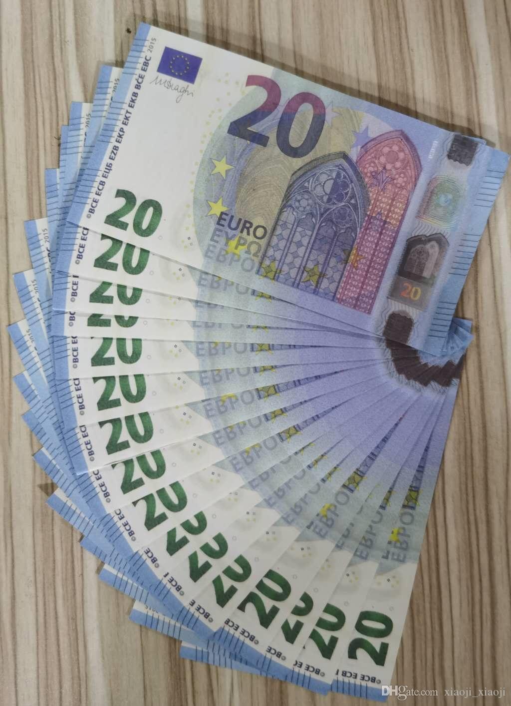 Dollar prop prop prop stim bar 20 spiel requiat spiele euro erwachsene währung euro kinder film special spielzeug realistische bühne pund geld jcpwn