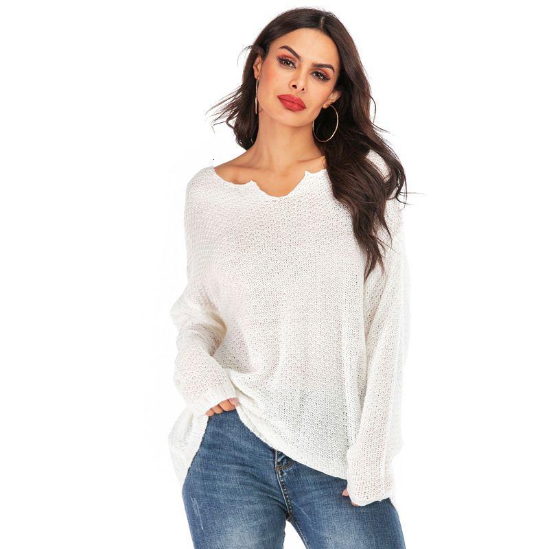 Maglione sottile da donna Primavera Autunno Lady Manica Lunga Slash Neck Casual Knitting Shirts Femmine Puover Tops Tops Maglioni