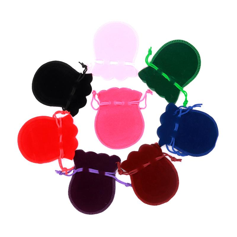 8 * 10CM 50PCS New Gourd على شكل فلانيليت يمكن تنظيف اللون الصديق للبيئة والأنماط المختلفة شعار مخصص