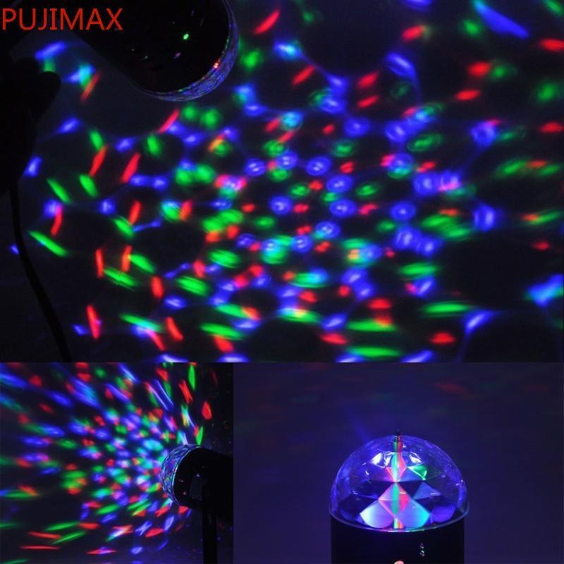 Disco Light Colorful DMX 3W DJ LED Auto Moving Head Rotating Stage Light RGB Crystal Evening lights