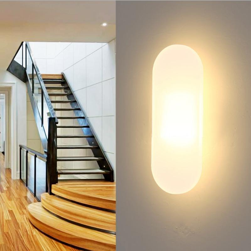 Mini 15W LED Acrílico Lâmpada de Parede AC220V Longa Quarto Branco Quarto Quarto Sala de Estar Lâmpada De Parede Interior