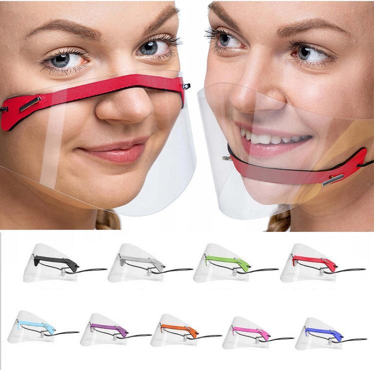 Masque à lèvres transparentes Anti-brouillard Visage de visage Visière Protection Visière Masque Visage Bouclier de Pet Visible Clear Creative Masque pour sourd muet