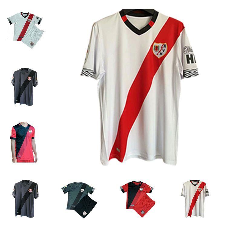 2021 Top Adult Rayo Vallecano Fútbol Jerseys 2020 Camisetas Chándal de Fútbol Antoñín Andrés Valentin Isi Bebe Football Shirts Uniforme