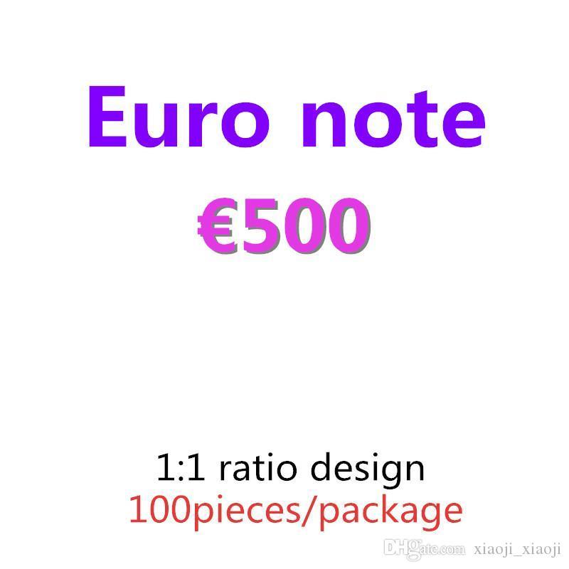 Collection Qualité 09 Copier Euro Dollar Pound Paper Document 100pcs / Pack Banknote Prop et 500 Cadeaux Cadeaux Argent Top Fournitures Faire semblant Whvll
