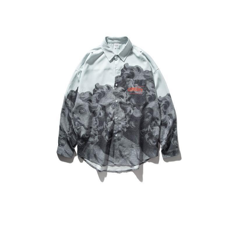 2020 automne nouveau style masculin Chemises occasionnelles Nouveautés Chemise chinoise Chemise de style chinois Novelty MODIS MODIS T-shirts à manches longues