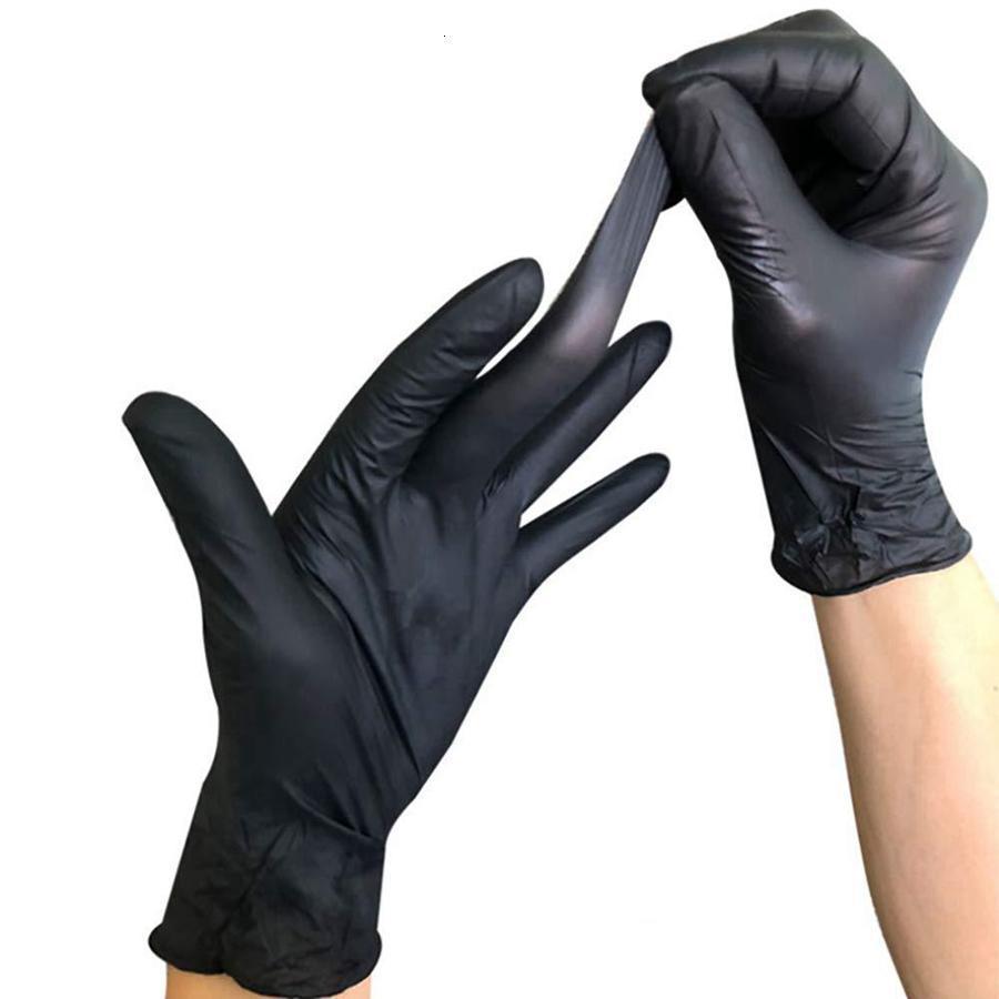 Нитрильные черные одноразовые перчатки Очень большие защитные порошок Бесплатные продовольственные перчатки для татуировки поставьте быструю доставку