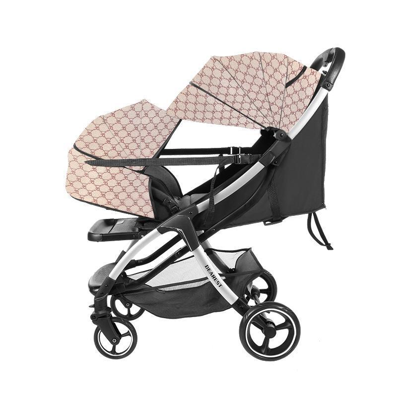 Carrinhos # Querida A10 Light Peso Carrinho de bebê Pram 2 em 1 com 4 grandes rodas nascidas rápido uma mão dobra en1888 tamanho pequeno