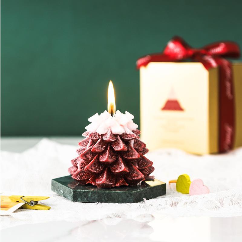 مهرجان الإبداعية اليدوية شجرة عيد الميلاد الروائح شمعة زهرة الجليد شمعة محايد لا شعار الحرفية شمعة تخطيط جو