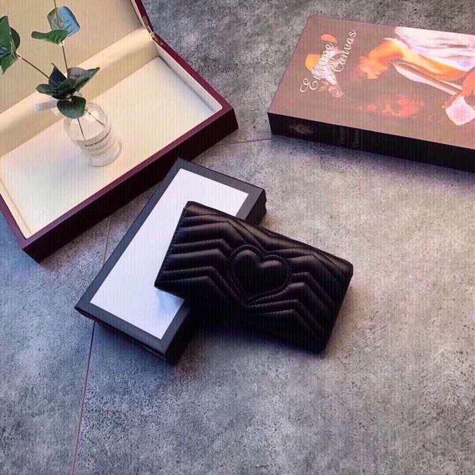 럭셔리 3A 하이 엔드 클래식 하트 모양의 패턴 화 된 지갑 상자 숙 녀 정품 가죽 사각형 플립 지갑 클러치 백 도매