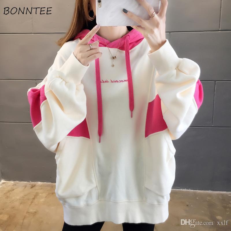 Hoodies frauen sweatshirt dicker plus größe winter kleidung harajuku koreanische mode kleidung womens übergroßer hoodie lässig weich