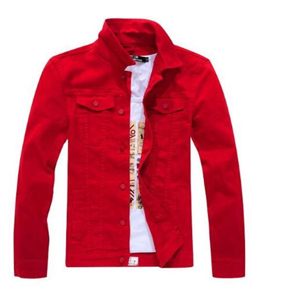 Giacca da jeans in jeans in jeans a maniche lunghe in primavera e autunno