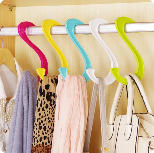 Многоцельруйте большую вешалку для одежды, висит обувь крюк 5 шт. / Лот Кухонные шкафные крючки