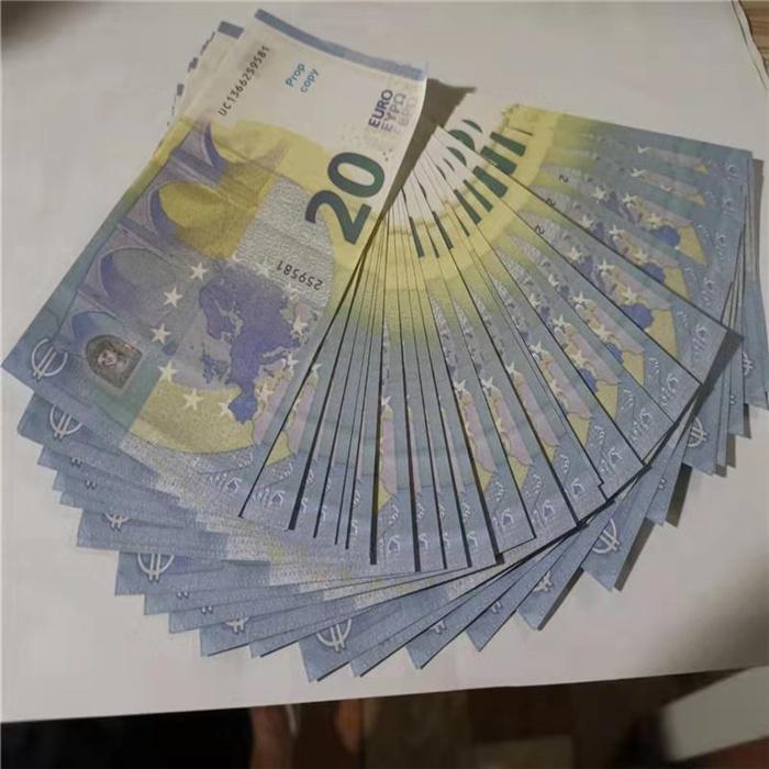 EURO MONEUR 20 EURO 100 euros Banknote de jouet 10 Pistolfe contrefaite Pistolet de lutte contrefaite Garde d'ambiance Film 50 Billet de banque Collection Bar Fake PROP STA MLGL