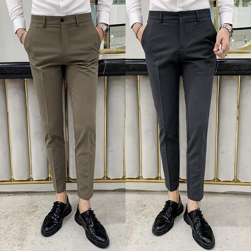 2020 Vêtements de marque Homme Slim Spring Business Hommes Formel Costumes Pantalon Mariage Pantalon Pantalons de loisirs de haute qualité