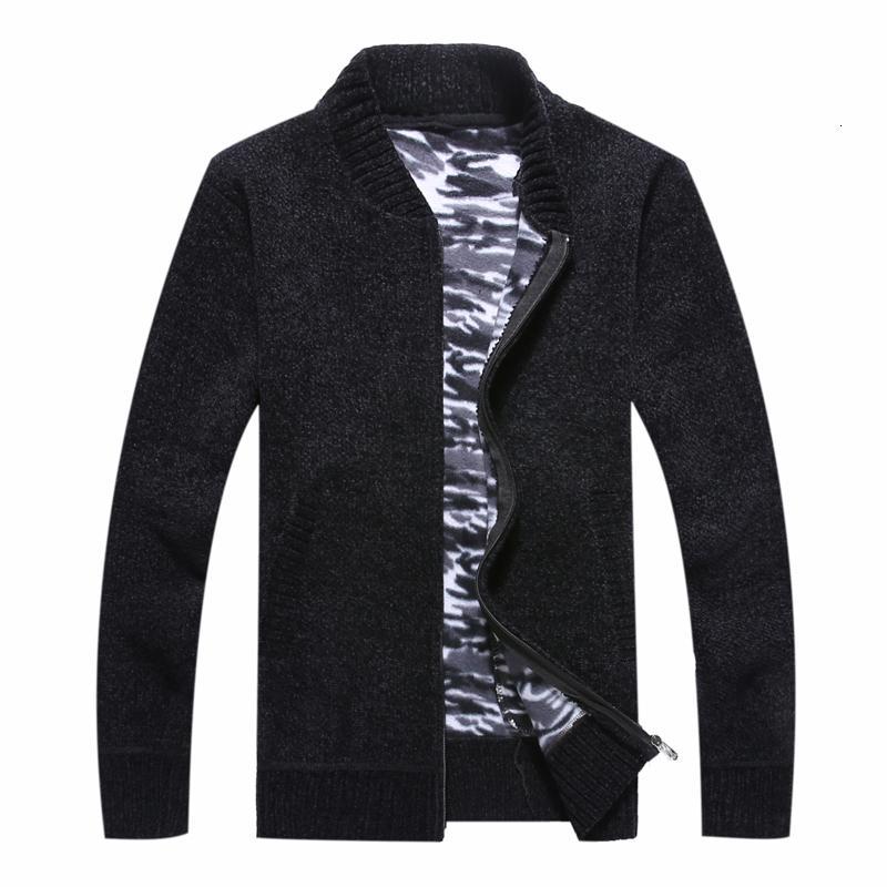 2020 Herfst Kış Erkekler Sweatoat Faux Kürk Yün Trui Ceketler erkek Kuyrukları Kalın Ceket Giymek Sıcak Rahat Kazak