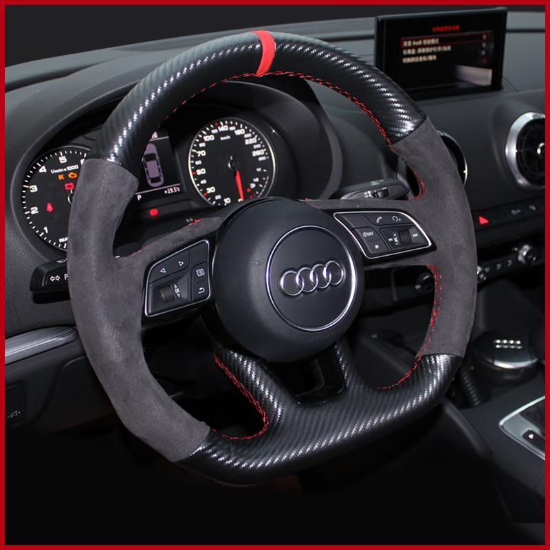 Adecuado para la cubierta del volante AUDI CUERA DE CUERA COSTAN A3 A4L A5 A6L A8 Q2LQ3 Q5 Q7