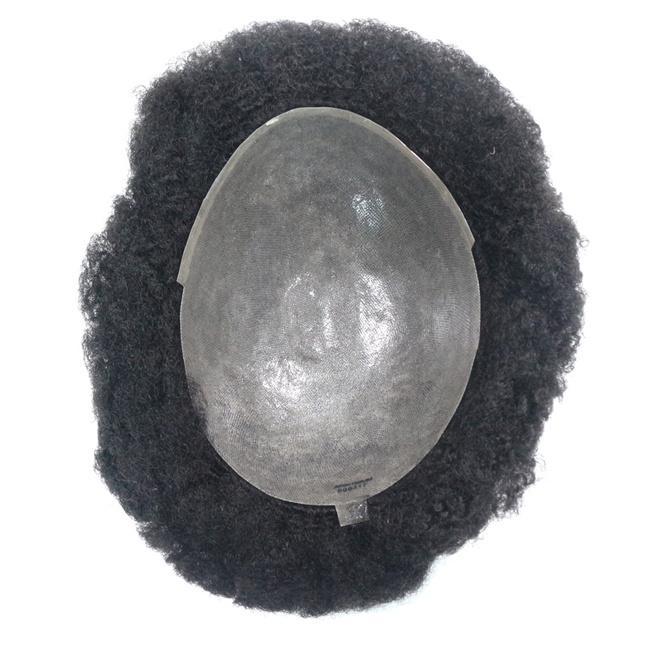 afro kinky lockige toupee menschliche haarsysteme für schwarze männer remy menschliches haar afro curl haar toupee schwarze männer
