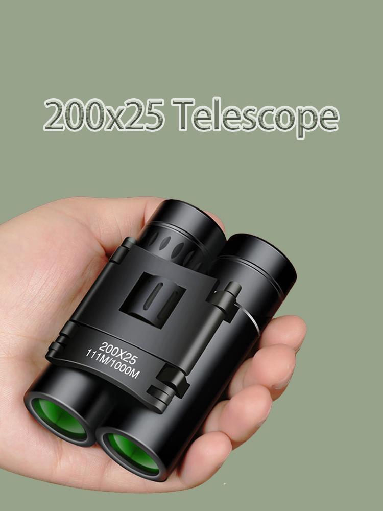 Super Zoom 200x25 бинокулярный телескоп Портативный Размер Hd Бинокль Professional Lll ночного видения Область применения для охоты Туризм Отдых