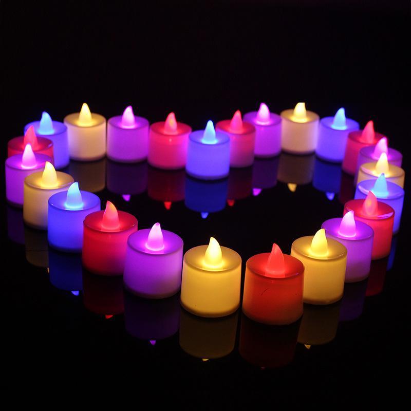 LED eletrônica vela luz colorida aniversário vela lâmpada flameless luz decoração luz branca quente wb3016