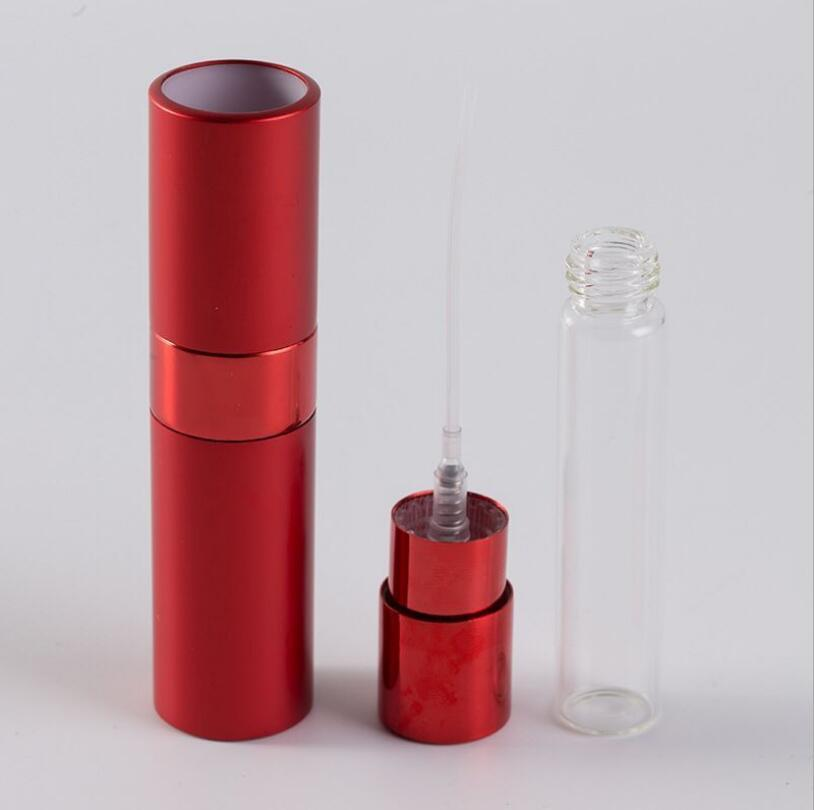 Mini Spray Perfume Bottle Portable Aluminum Perfume Bottles Spray 8ml Travel Refillable Atomizer Empty Cosmetic Container HWD3231