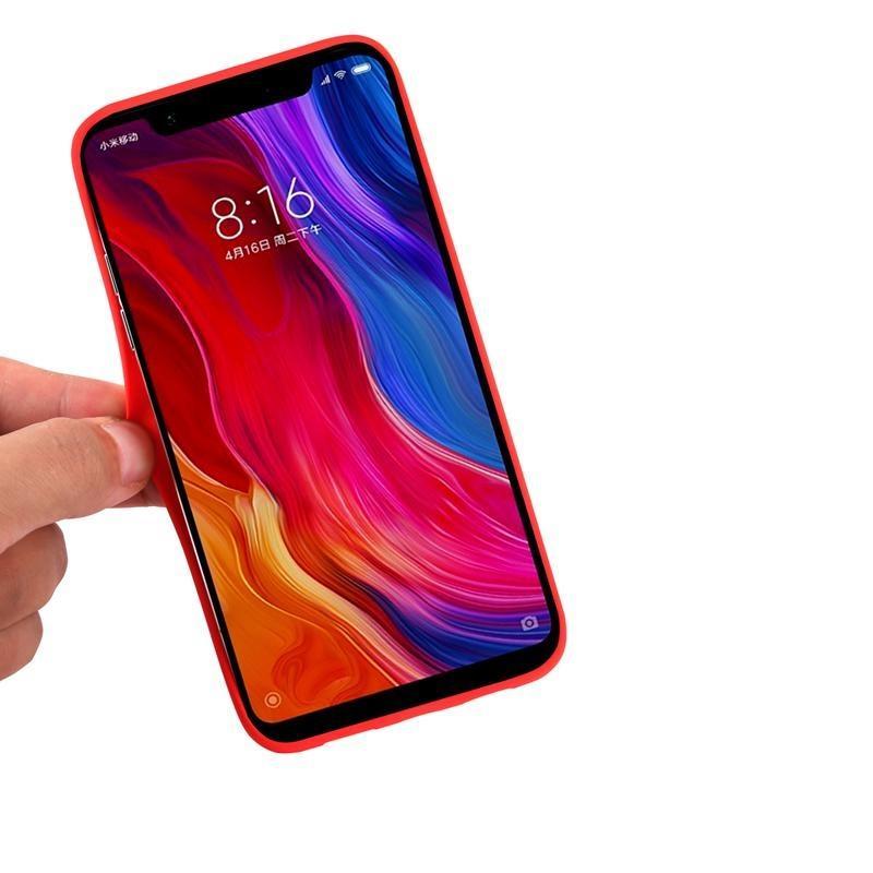 Funda telefónica con anti-scratch Microfiber Revestimiento duro Funda protectora a prueba de choques para Xiaomi 8 8SE 8 LITE