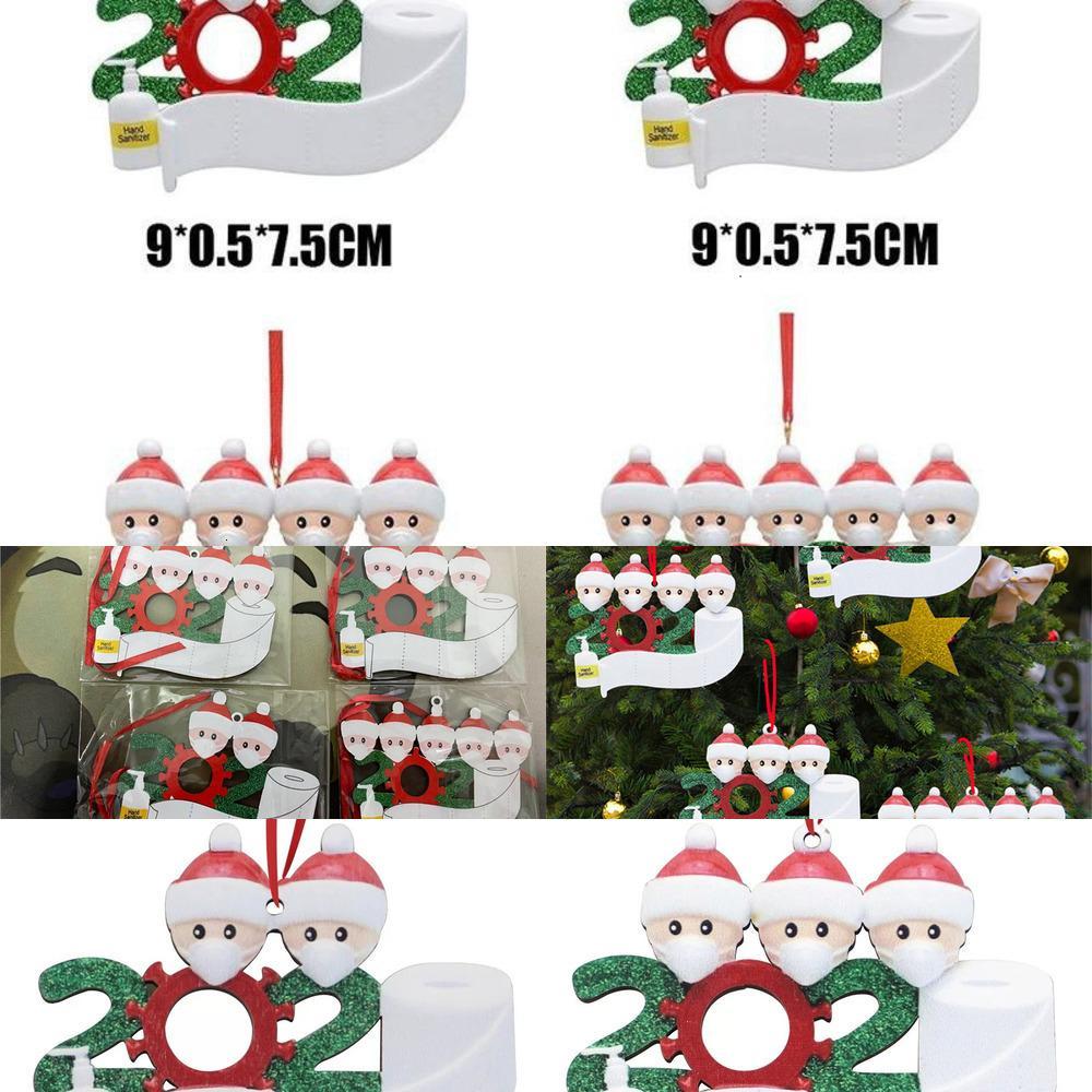FactoryFWC8Face Schneemann 20J620J6Tree Maske Ornament Hängen Anhänger DIY PVC Weihnachtsdekoration Familie 2/3/4/5 Z30