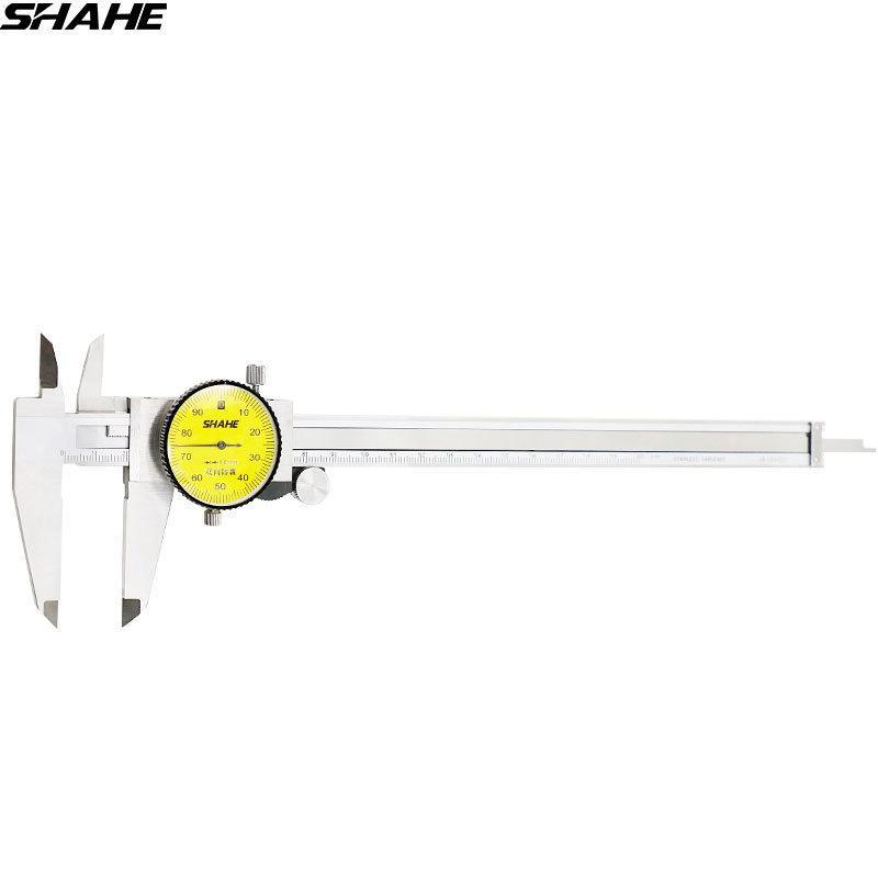 Shahe 200 مم للاتصال الفرجار 0.01 مم واقية من الصدمات الفولاذ المقاوم للصدأ الاتصال الهاتفي الورني الفرجار قياس متري T200602