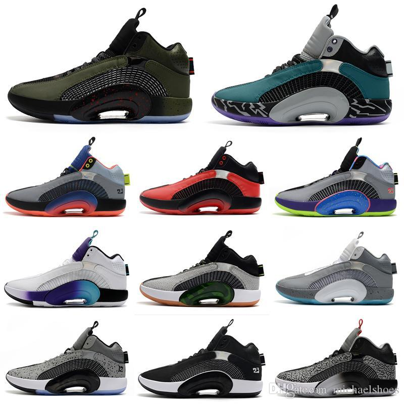 Centro de Gravidade Jumapman 35 Mens Sapatos de Basquete DNA Criado Ouro Preto Red Bayou Meninos Irmandade 35s Treinadores Homens Sports Sneakers 40-46